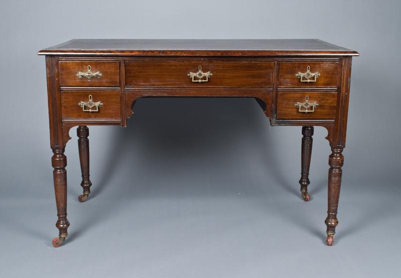 A Fine Small Scale English Desk Circa 1850 Loading Zoom