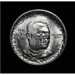 1946-d Booker T Washington Commemorative Half Dollar Grades Gem Uncirculated ms65+ PQ