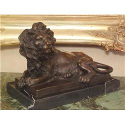 Magnificent Bronze Sculpture African Lion