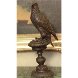 Magnificent Bronze Sculpture Falcon