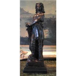 Magnificent Bronze Sculpture Vercingetorix French Warr