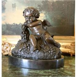 Magnificent Bronze Sculpture Bronze Cupid Cherub