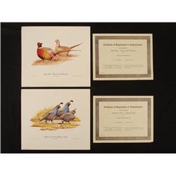 2 Bird Prints R.L. Kothenbeutel Signed w/ COA