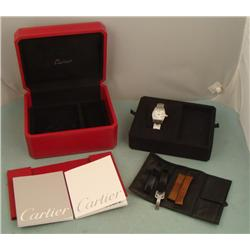 Cartier Mens Roadster Watch Limited Edition Box 3 bands