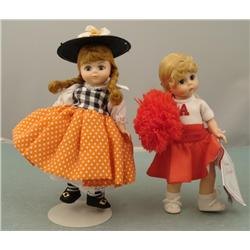 2 Madame Alexander Dolls Jumping Joan Cheerleader