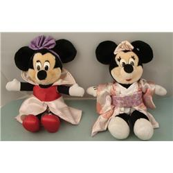 2 Minnie Mouse 15  Plush Dolls Disney World Disneyland