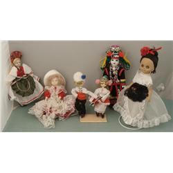 6 International Cultural Old Dolls Europe, Far East