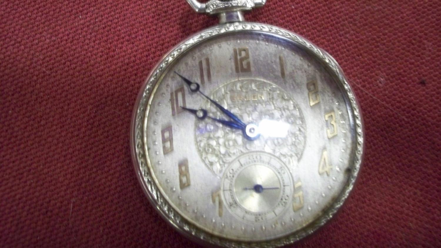 dating a gruen pocket watch Watch list purchase history  dating a watch by serial number question - hamilton options  while production dates and info for hamilton pocket watches is .