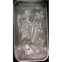 1452. St. Patrick's Day March 17, 1974 Erin Go Brah One Ounce .999 f