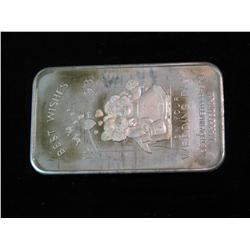 """1468. """"Best Wishes 1993 On Your Wedding Day"""" .999 Fine Silver One Ounce"""