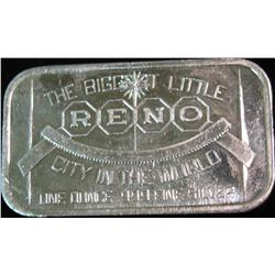 """1483. """"The Biggest Little City in the World Reno"""" One Ounce .999"""