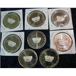 1498. (8) California Crown Mint One Troy Ounce .999 Fine Silver Rounds.
