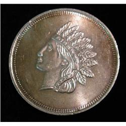 1518. Indian head Cent Design One Ounce .999 Fine Silver. BU.