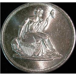 1523. Liberty Seated Dollar Design One Ounce .999 Fine Silver. BU.