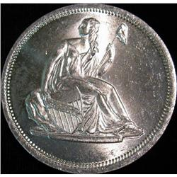 1524. Liberty Seated Dollar Design One Ounce .999 Fine Silver. BU.