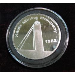 1532. 1982 Hecla Mining Company Day Mines Inc. Proof .999 Fine
