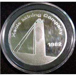 1533. 1982 Hecla Mining Company Day Mines Inc. Proof .999 Fine