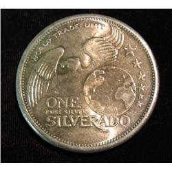 1544. Certified Mint One Silverado World Trade Unit One Ounce .999 Fine Silver.