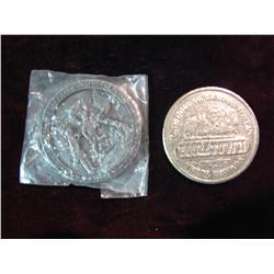 1589. Boom Town $1 Gaming Token & 1781-1981 Fort Griswold