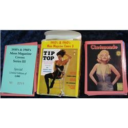 1591. 1950's & 60's Men's Magazine Covers Girlie Cards Deck for