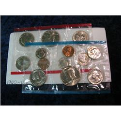 1661. 1980 U.S. Mint Set. In original cellophane.