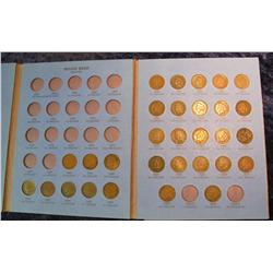 1668. Partial Set of Indian Cents 1859-1909 in a Whitman folder.