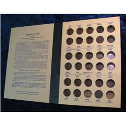 1670. Partial Set of Indian Cents 1863-1909 in a Library of Coins album.