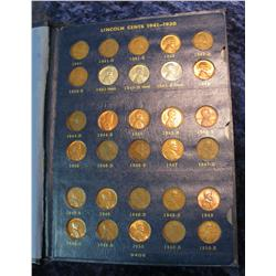 1671. 1941-64 Complete Set of Lincoln Cents without Proofs or Double Dies.