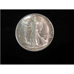 1695. 1944 S Walking Liberty Half Dollar. Brilliant MS 63.