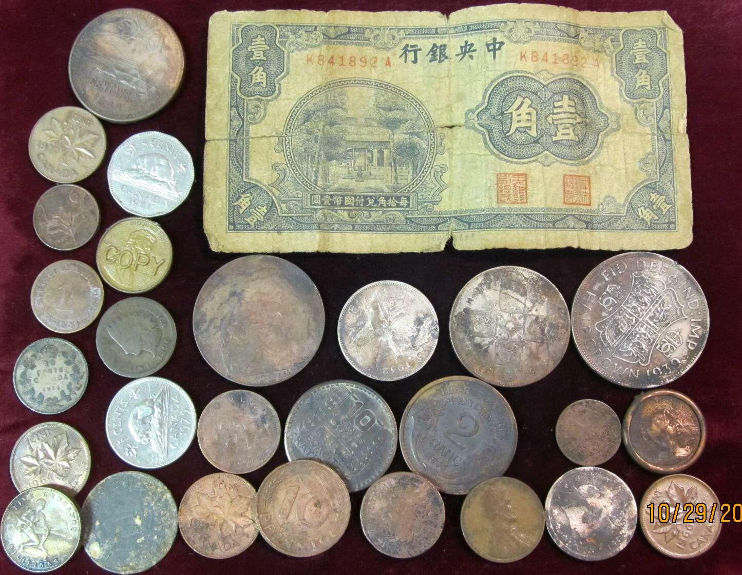 Collection Of 28 Old U S Foreign Coins