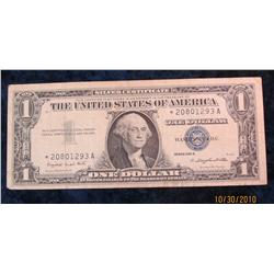 "54. Series 1957A $1 Silver Certificate ""Star Replacement"" Note. F-12."