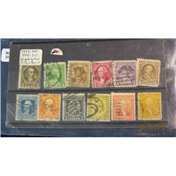 78. 1932 Set Scott 704-715 Washington Bicentennial Stamps.