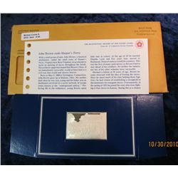 "95. 1859 Sterling Silver Proof Bar depicting ""John Brown Seized at Harper's Ferry"""