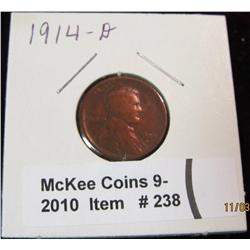 238. 1914 D Lincoln Cent. Porous. (sold as is)