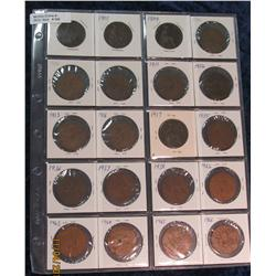 306. 20-Piece Set of Great Britain Large Pennies. Includes 1902, 05, (2)
