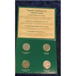 308. Four-Piece American Nickels of the 20th Century Set. Includes