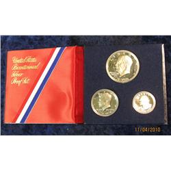 316. 1976 S Three-Piece Silver U.S. Proof Set in original blue holder.