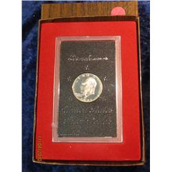 330. 1971 S Silver Eisenhower Dollar in original brown box.