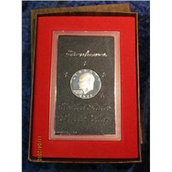 331. 1972 S Silver Eisenhower Dollar in original brown box.