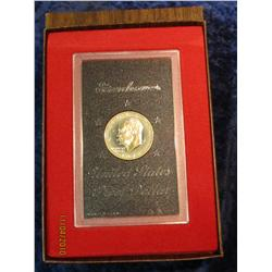 332. 1974 S Silver Eisenhower Dollar in original brown box.