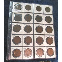 336. Great Britain Large Penny Collection Includes 1906-08, 11-17,