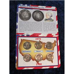 347. 1979-1980 Set of Susan B. Anthony Dollars P, D, & S. BU.