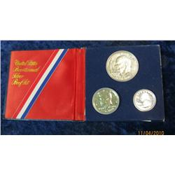 370. 1976 S Three-Piece Silver U.S. Proof Set in original blue holder.