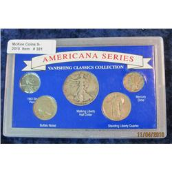 381. Vanishing Classics Cent to Half Dollar in special holder. Includes