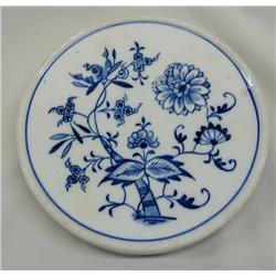 Antique Meissen Cobalt Blue Trivet