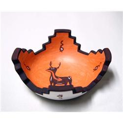 1998 Zuni Altar Prayer Deer Pottery by Peynetsa