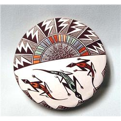 Acoma Miniature Lizard Seed Pottery by D Lewis