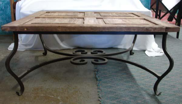 Image 2 : Antique Door Coffee Table MUST BE PICKED UP! - Antique Door Coffee Table MUST BE PICKED UP!