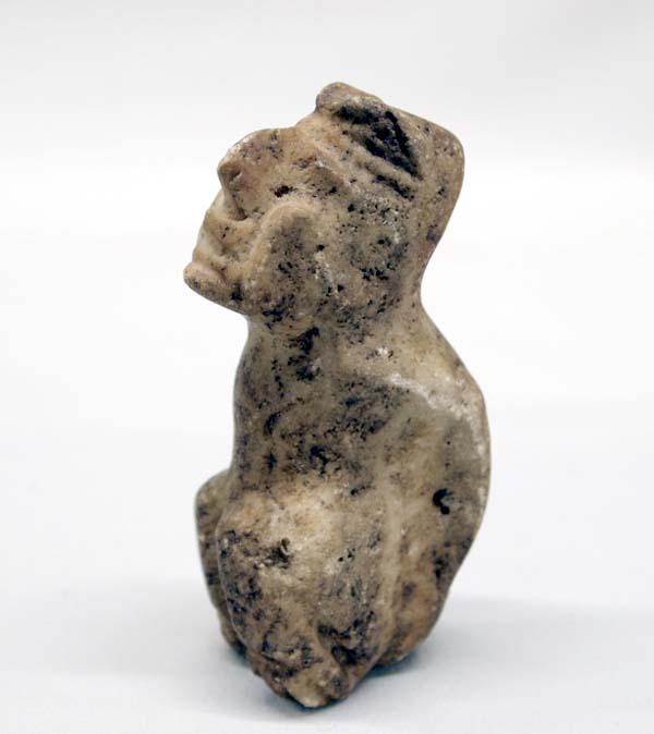 Pre columbian carved stone effigy statue