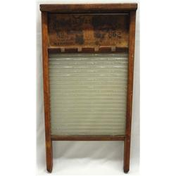 Antique National Washboard Co. Glass Washboard
